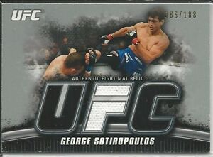 George Sotiropoulos 2010 Topps UFC Knockout Fight Mat RelicsSilver #FMMC 086/188