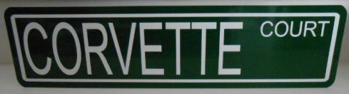 CORVETTE METAL STREET SIGN CHEVY SPORTS CAR STINGRAY Z06 GRAND SPORT 427 SUMMER