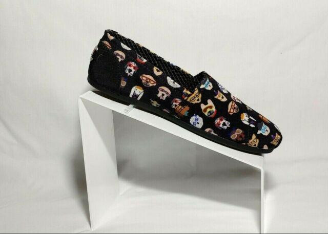 BOBS Skechers Women's Black Plush Pup SMARTS Dog Slip on Flats #34392 US 7.5 NIB