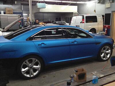 Metallic blue matte vinyl 50ft x 5ft (250 sq. ft) car wrap adhesive film decal
