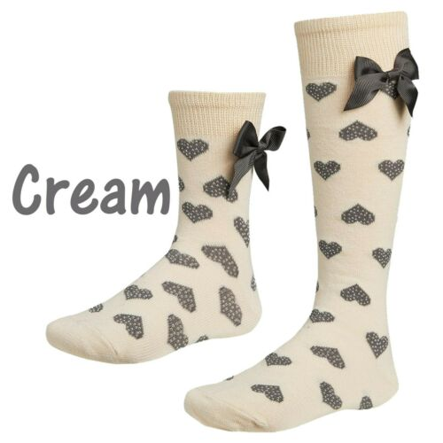 Baby Girls /& Girls Knee High 3//4 or Ankle Spanish Bow Ribbon Socks 2-14 Years