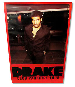 DRAKE-CLUB-PARADISE-TOUR-PORTRAIT-RED-BORDER-GLOSSY-POSTER-NEW-OFFICIAL-24-034-X36-034