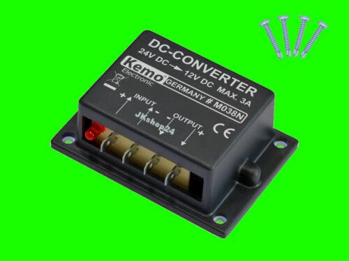 Spannungswandler LKW+TRUCK 24 V//DC auf 12 V//DC Konverter Spannung-Wandler NEU