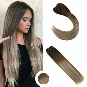 Ugeat-Micro-Beads-Weft-Human-Hair-Extension-Balayage-Brown-to-Blonde-3-8-22-50g
