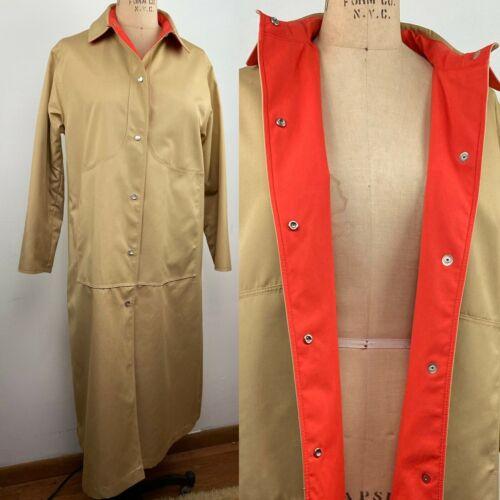 Vintage Bonnie Cashin 1970s Camel Tan Orange Coat