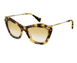 fae53c38a04 Authentic New MIU MIU Sunglasses SMU03P 7S0 9S1 Blonde Havana Gold ...