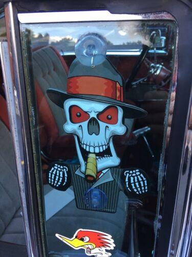 SKULL License Plate Topper Skeleton TIN MECHANICAL RATROD HOT ROD STREET ROD