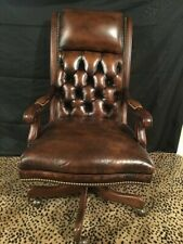 Hancock Amp Moore Executive Editorial Tilt Swivel Chair Brown Leather