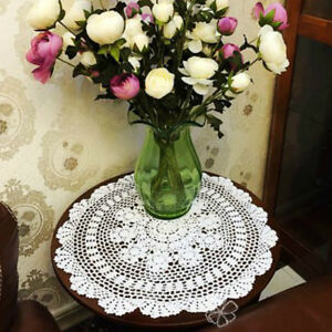Small Round Table Cloths.Details About Handmade Crochet Small Round Table Cloth Lampshade Tablecloth Lace Doily Vintage