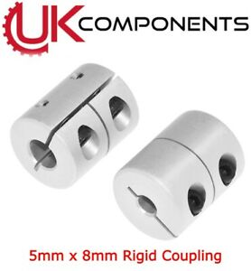 25mm-Impresora 3D-Cnc Acoplador de acoplamiento del eje rígido 4//5//6//6.35//8//10mm