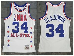buy online 73091 a7bbe Details about 1989 HAKEEM OLAJUWON #34 NBA ALL STAR MITCHELL & NESS  AUTHENTIC SWINGMAN JERSEY