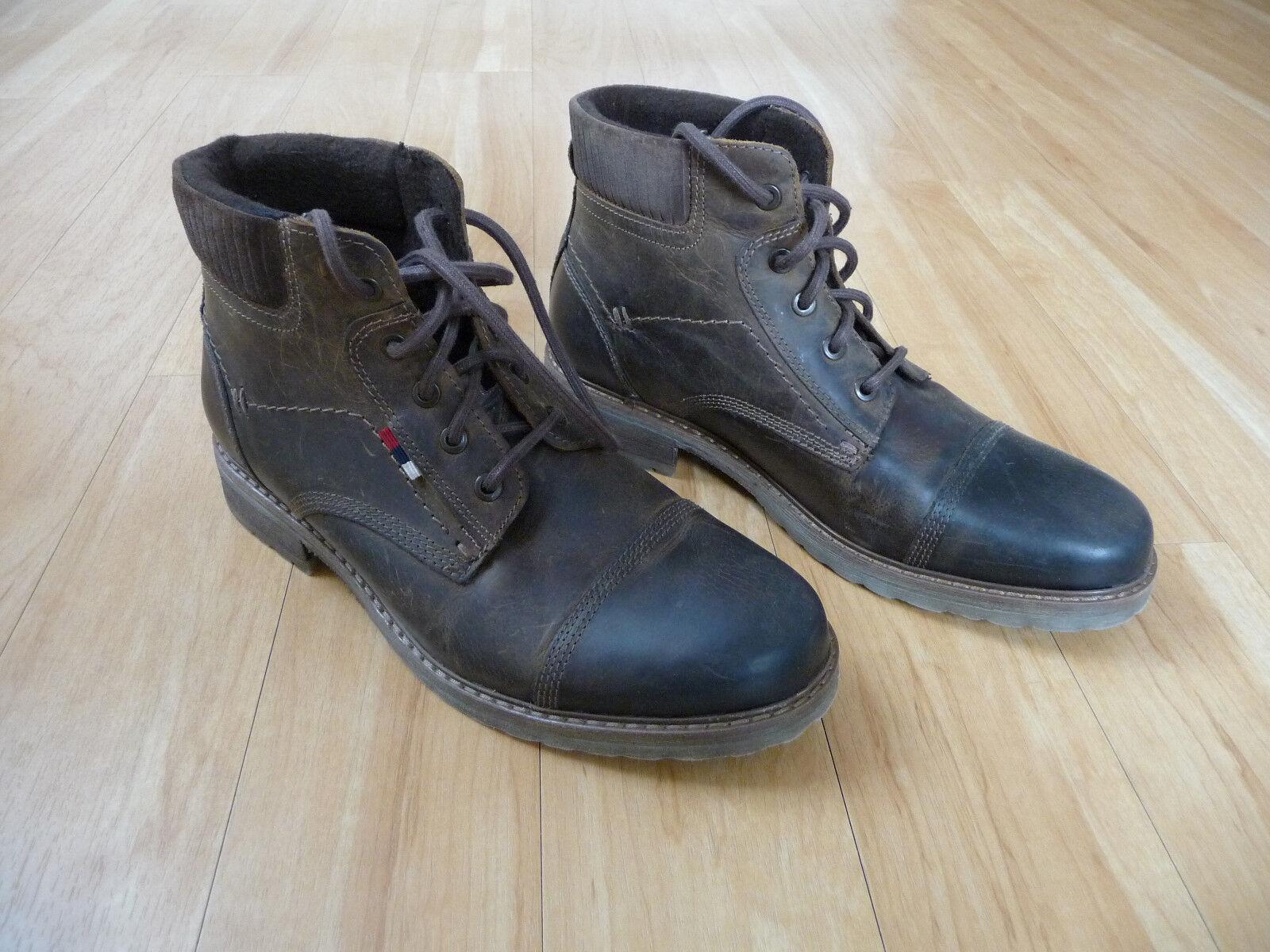 Stiefel Boots Leder braun Herren Maximo Größe 41