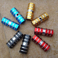 """1pair New BMX Bike Bicycle Cylinder Aluminum Alloy 3/8"""" Axle Foot Pegs 5 color"""