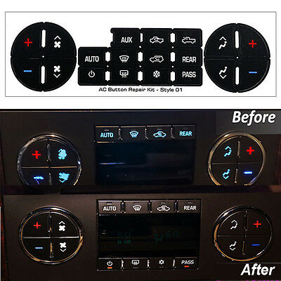 Radio Button Decal Sticker Repair Replace Kit for 07-14 Chevy GM Buick Saturn