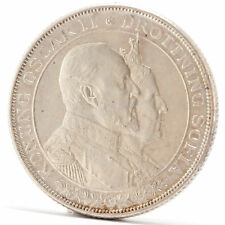 2 Kroner Silber Münze Schweden 1907 Silver coin Sweden Oskar II Golden Wedding