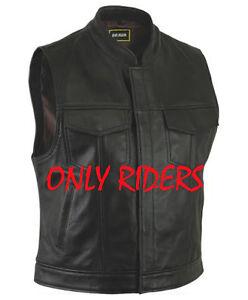 Gilet-en-Cuir-pour-Moto-Gilet-en-Cuir-de-Vachete-Veste-En-Cuir-Biker-Vest