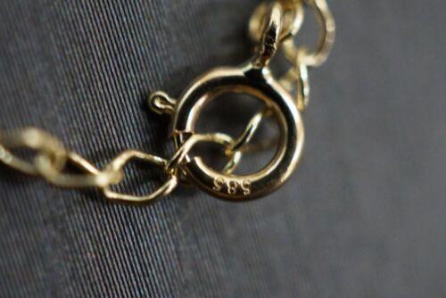 14K Solide Or Jaune Belle tri couleur Love Knot Cz Collier Pendentif.
