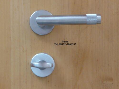 Messing chrom satiniert Türbeschlag Türdrücker VALLI /& VALLI Werther H1739