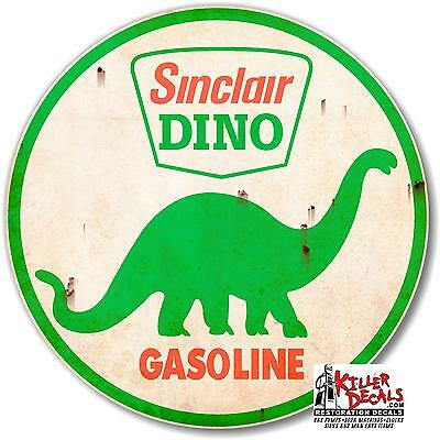 "12/"" RUSTY SINCLAIR MOTOR OIL LUBSTER OIL CAN GASOLINE GAS DECAL SINC-9R"