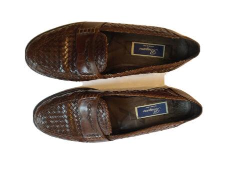Men's  Bragano  Italian loafers shoes woven nutmeg