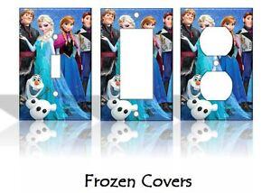 Frozen Elsa Anna Olaf Disney Light Switch Covers Handmade Home Decor