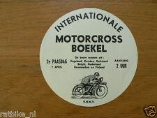 STICKER,DECAL INT. MOTOCROSS BOEKEL 7 APRIL 1958, UK,ZWEDEN,GERMANY,BELGIE,NEDER