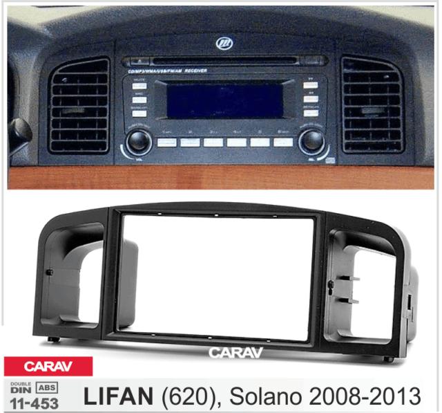 CARAV 11-505 2Din Marco Adaptador de Radio para TOYOTA Corolla 2007-2013 negro