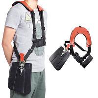 Strimmer Double Shoulder Harness Strap + Carry Hook For Brush Cutter & Trimmer