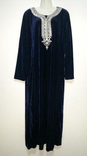 Abaya Maxikleid arabisches Kleid Jellaba Djelaba Samtkleid Winterkleid L 3XL