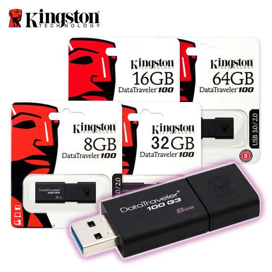 Kingston DT100 G3 UDisk USB 3.0 Flash Drive Memory Stick 16GB 32GB 64GB 128GB