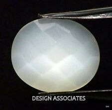 Rainbow Moonstone Faceted OVAL ROSE  Cut Calibrated 10X8 MM  Natural Gem
