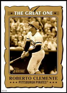 Roberto Clemente 2021 Topps Heritage 5x7 The Great One Gold #GO-17 /10 Pirates