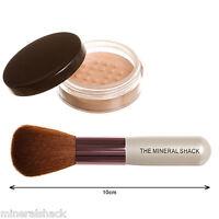 Mineralshack Matte powder foundation  6g Jar & Face Brush Set mineral makeup