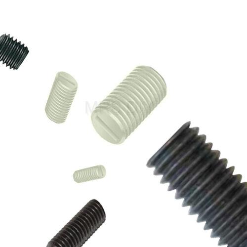 M10 10mm thread larghezza IN NYLON PLASTICA estirpare le viti Intagliato varie opzioni di lunghezza
