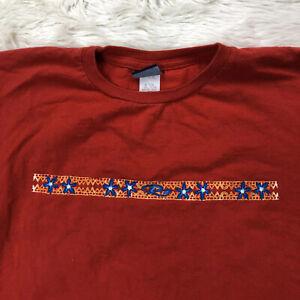Vtg Rusty Shirt Juniors Womens Sz Large Red Long Sleeve Top