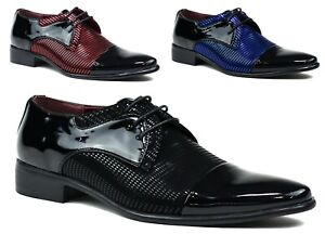 MENS-NEW-LACE-UP-WEDDING-PARTY-OFFICE-FORMAL-PATENT-SHOES-UK-SIZES-6-12