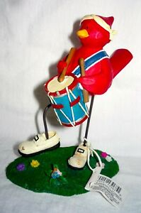 Tweet Along with Me - LIBERTY TWEET LIBERTY - Marching drum player red bird -NIB