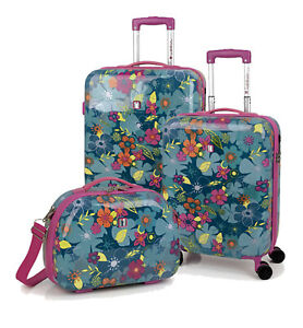 Gabol-Kindertrolley-Set-Trolley-Hartschale-Koffer-Kosmetikkoffer-Aloha-33L-55L