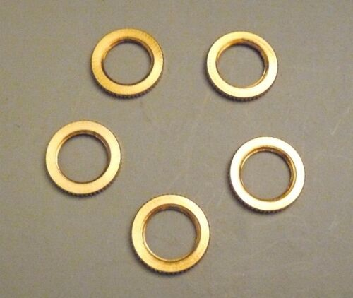 "NK3 5 1//2/"" Diameter Solid Brass Knurled Nut .70/"" OD 1//4 IPS Lamp Part"