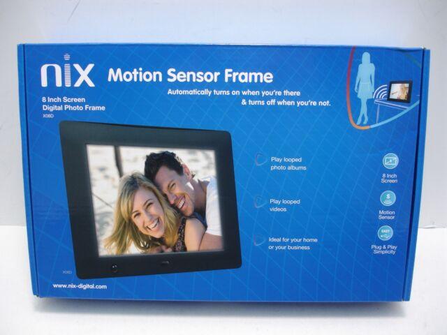 Nix 8 Inch Hi Res Digital Photo Frame With Motion Sensor X08d Ebay