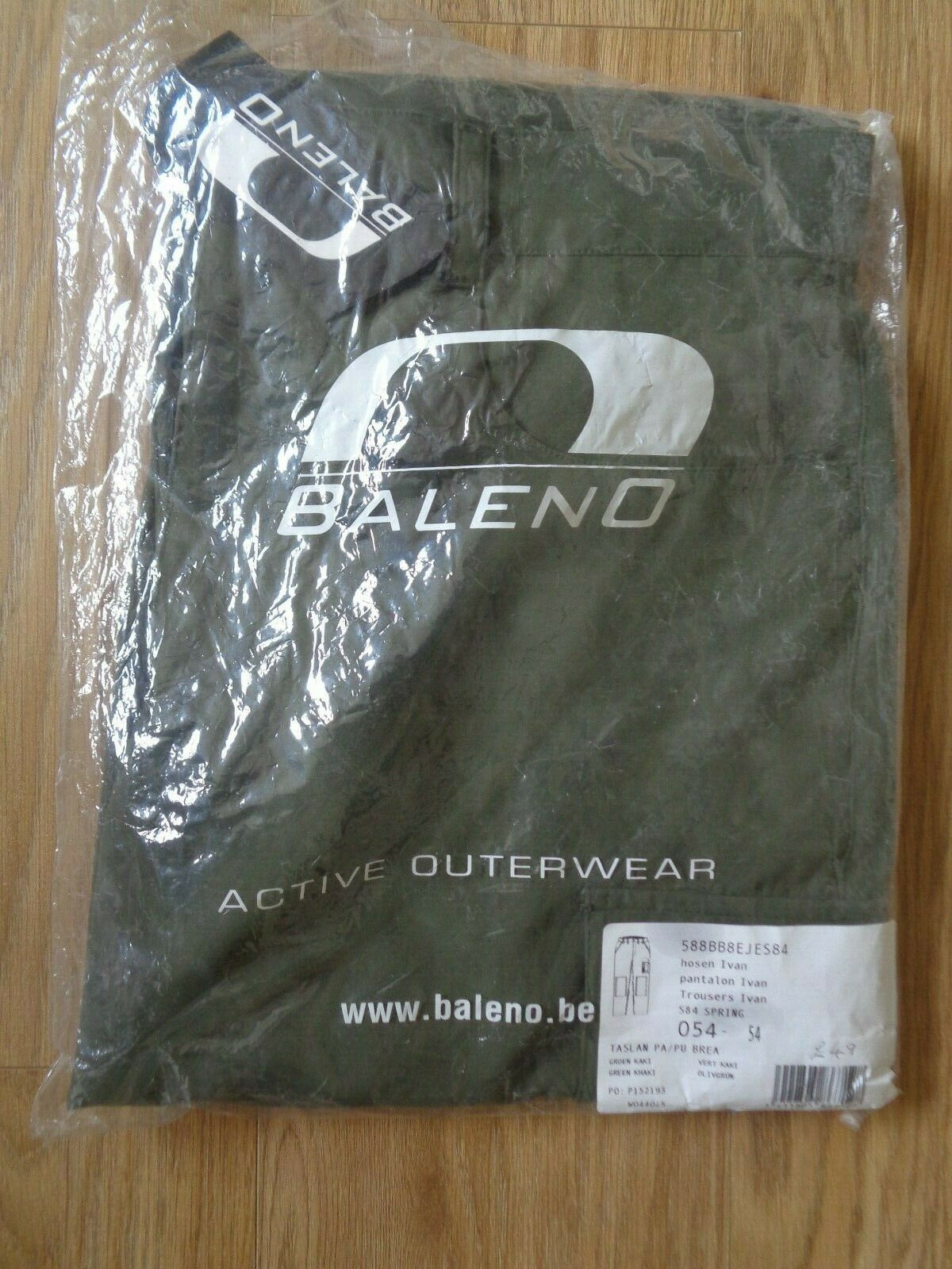 Baleno Ivan khaki green waterproof transpiring Trousers  size 36   92 cm 54
