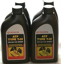 4 Quart ATF Genuine Toyota T-IV Automatic Transmission Fluid Oil For Lexus Scion