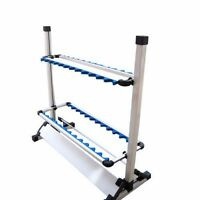 Hot Sale White Fishing 24 Rod Rack Pole Holder Aluminum Alloy Stand Storage Tool