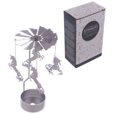 Nuevo Metal Flamingo Tea Light Powered Spinning sostenedor de vela Decoración spin16