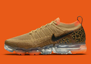 detailed look 7af24 bfbdf Image is loading Nike-Air-Vapormax-2-Cheetah-Gold-Orange-Size-