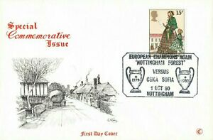 GB FDC Special Commemorative Issue Nottingham Forest European Champions OC0