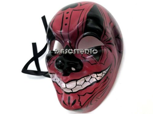Leopard Red Devil Cat Women Mask Music Halloween Costume Dress up Cosplay Party