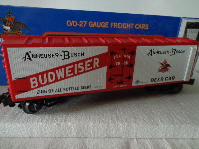 ANHEUSER-BUSCH O AND 027 GAUGE BUDWEISER WOODSIDED BEER CAR 3600