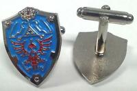 Legend Of Zelda Link Hylian Triforce Shield Video Suit Cufflinks Cuff Link Set