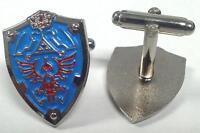 Legend Of Zelda Link Hylian Triforce Shield Nintendo Cufflinks Cuff Link Set